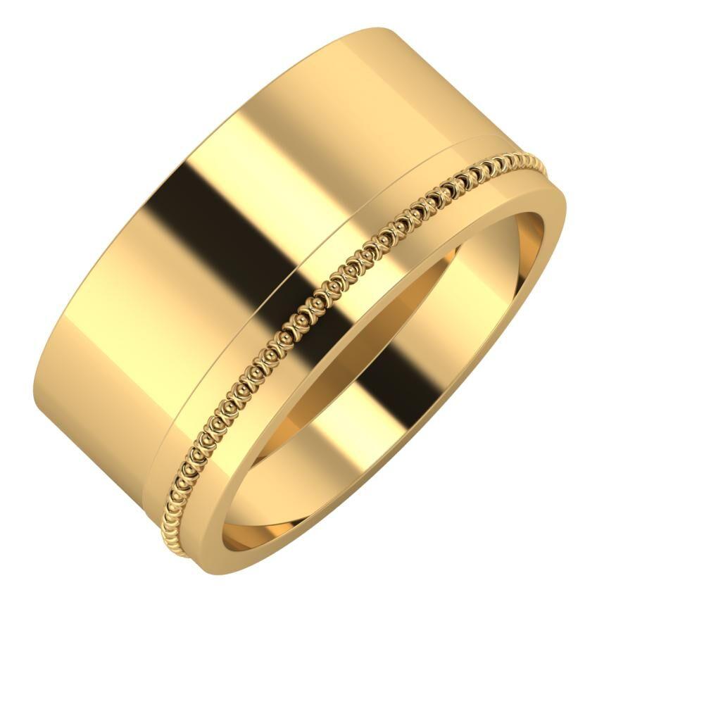 Adela - Afrodita 10mm 22 karátos sárga arany karikagyűrű