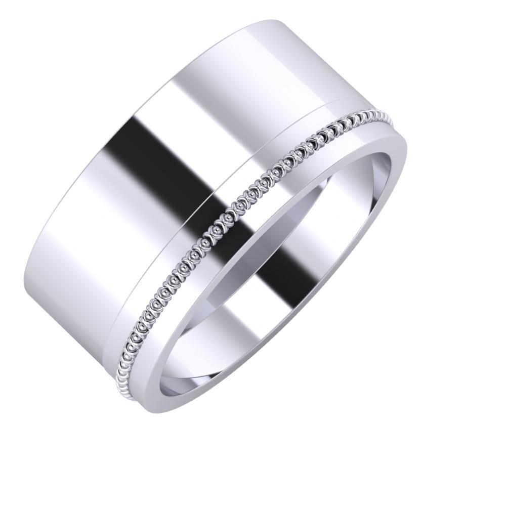 Adela - Afrodita 10mm platina karikagyűrű