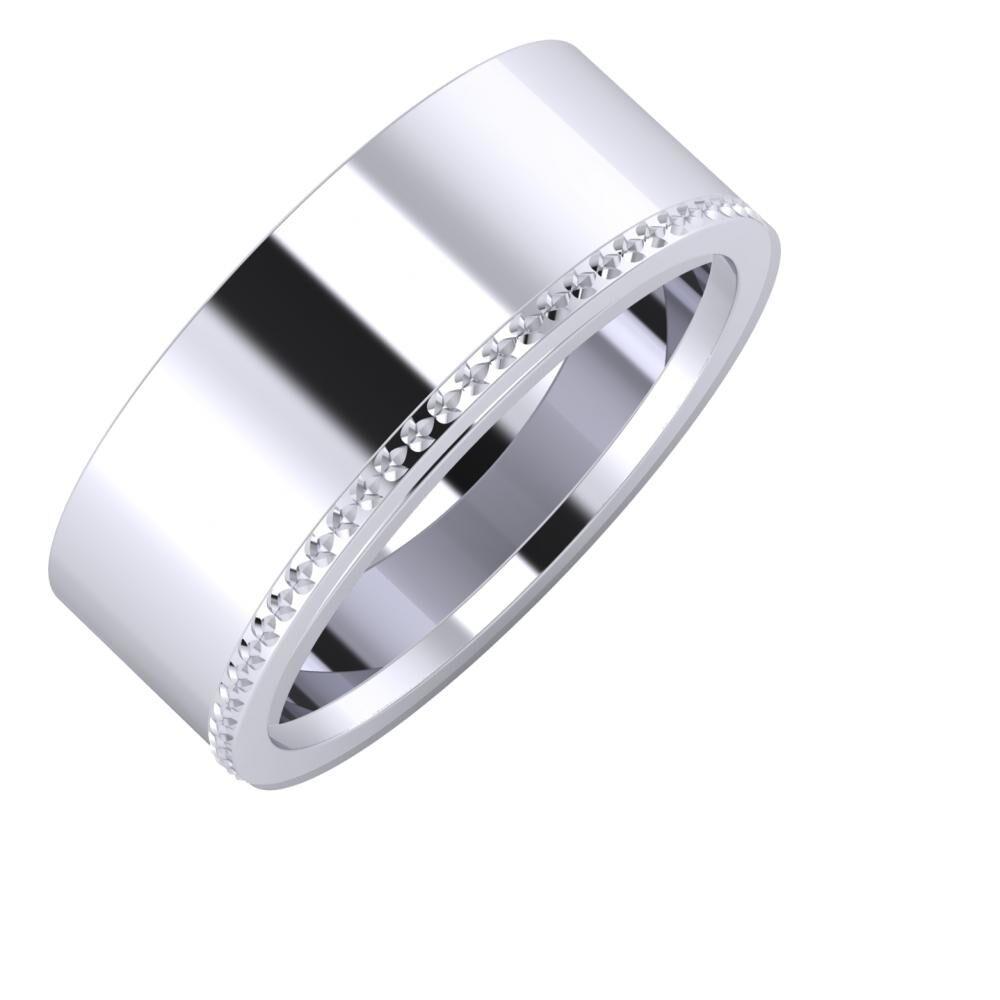 Adela - Ági 8mm platina karikagyűrű