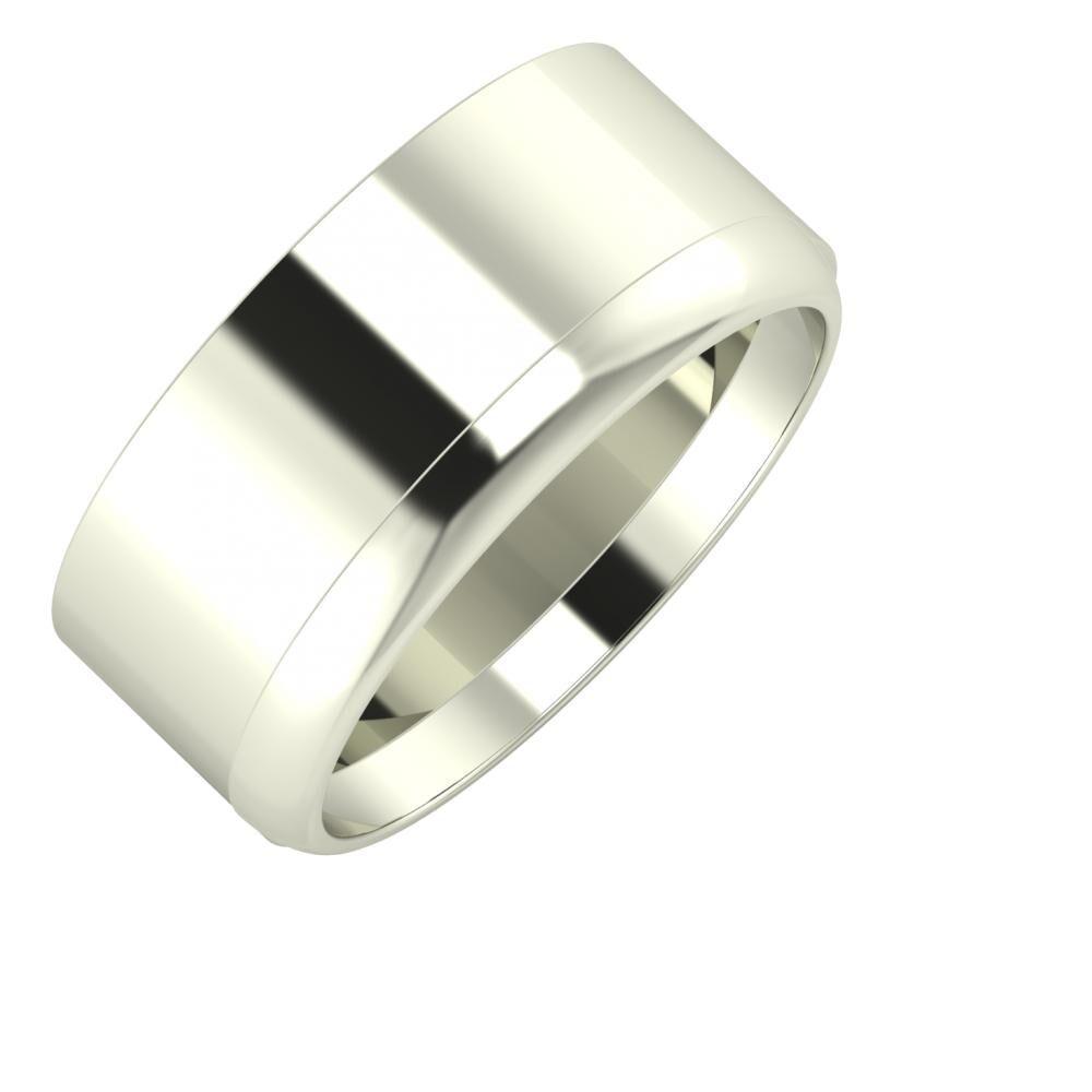 Adela - Ágosta 9mm 14 karátos fehér arany karikagyűrű