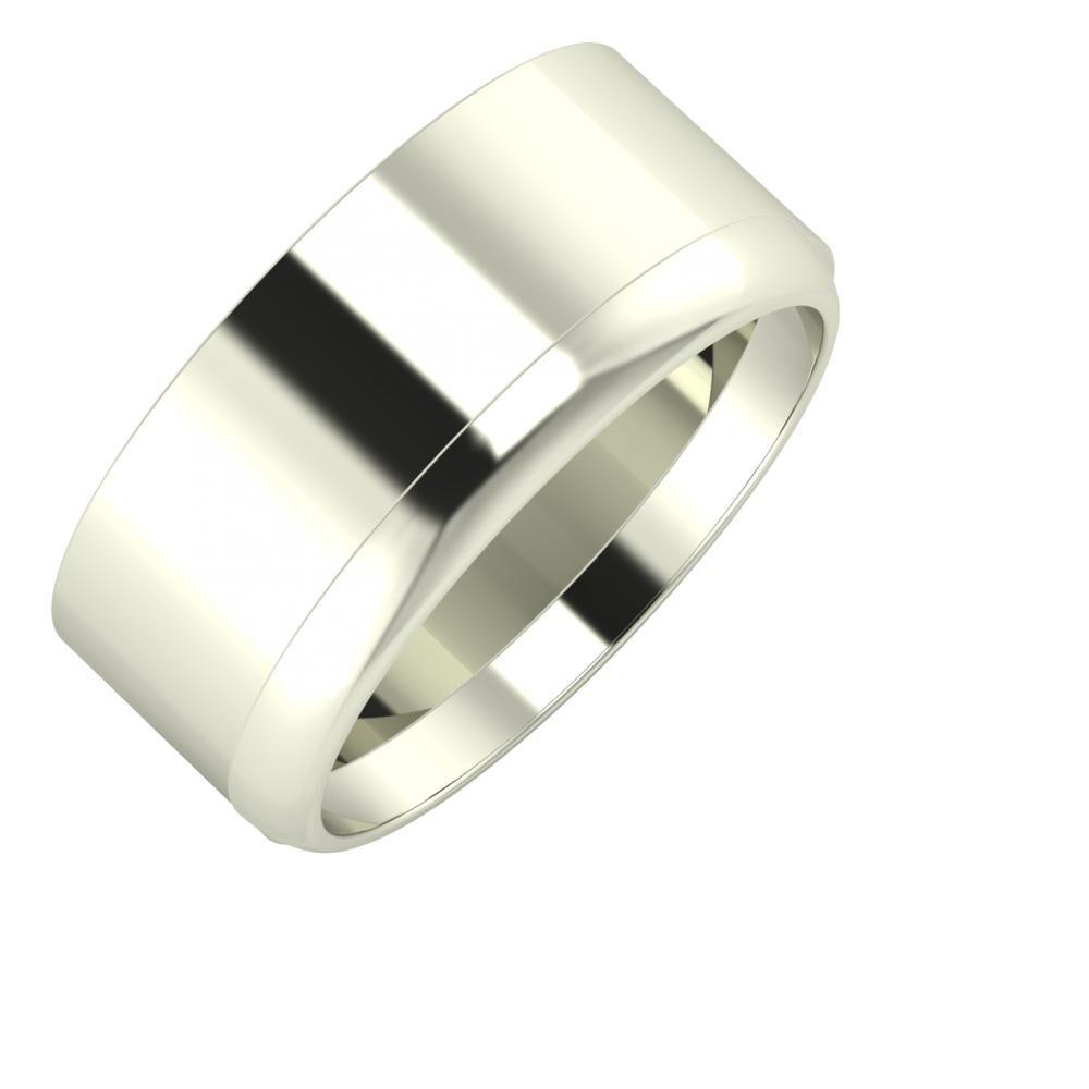 Adela - Ágosta 9mm 18 karátos fehér arany karikagyűrű