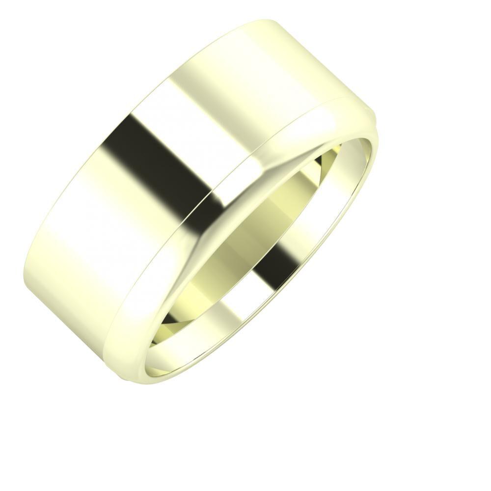 Adela - Ágosta 9mm 22 karátos fehér arany karikagyűrű