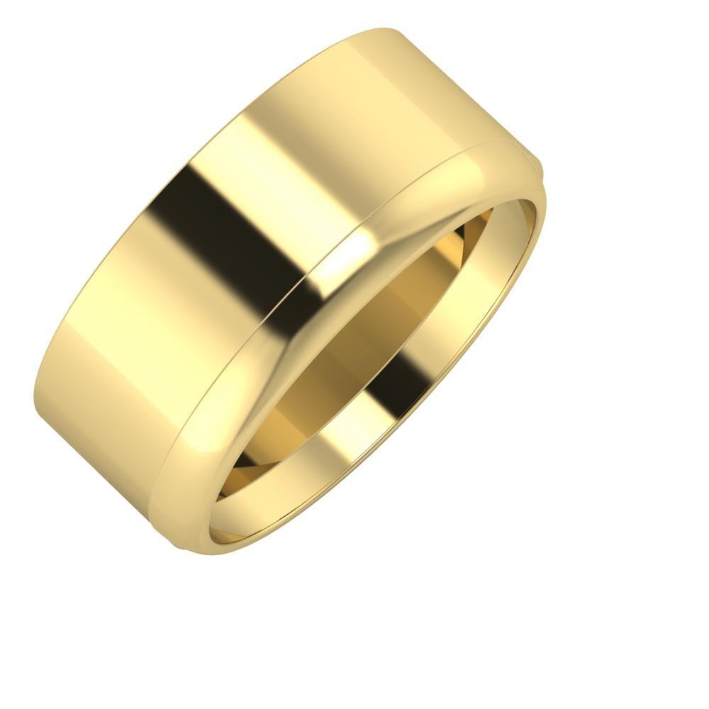 Adela - Ágosta 9mm 14 karátos sárga arany karikagyűrű