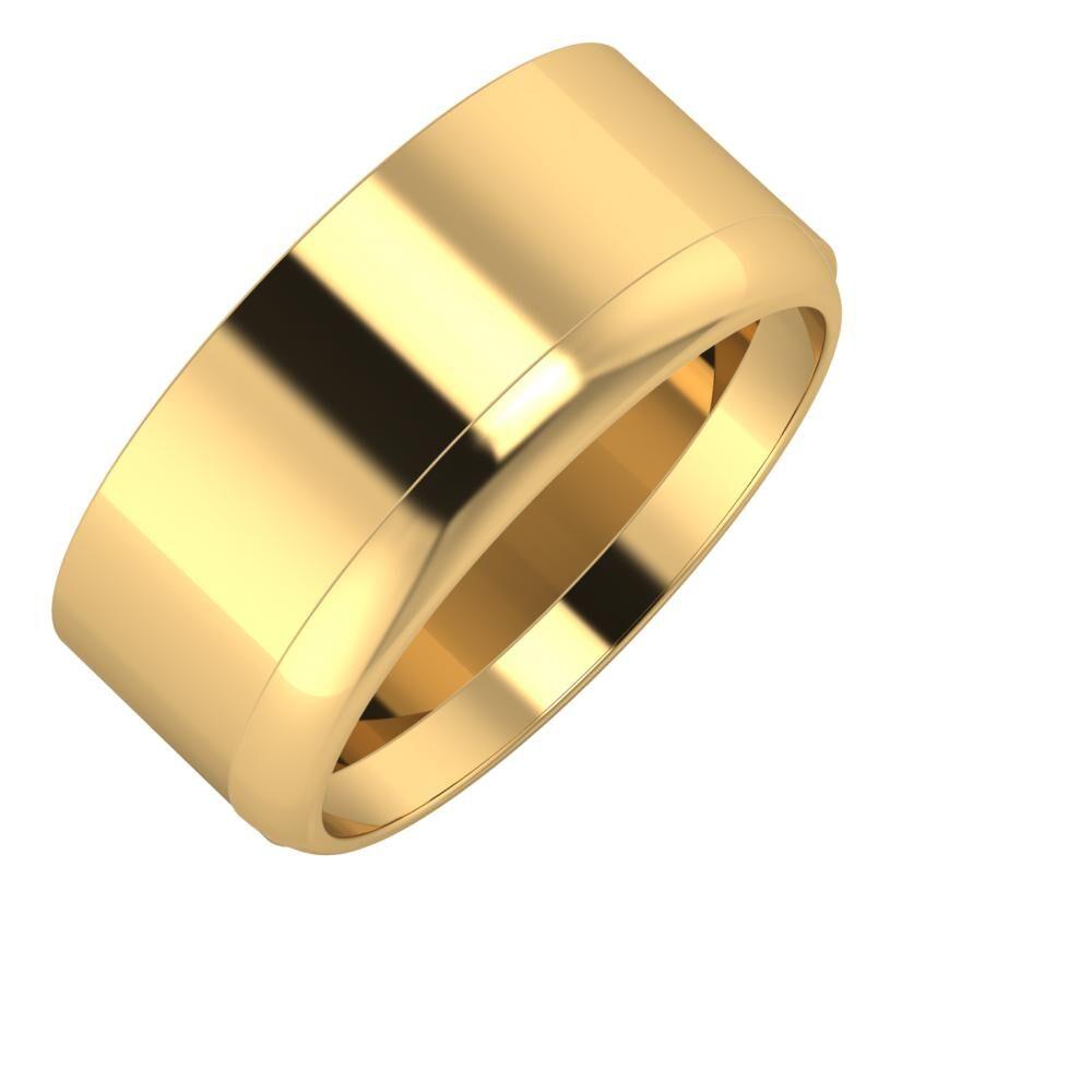 Adela - Ágosta 9mm 18 karátos sárga arany karikagyűrű