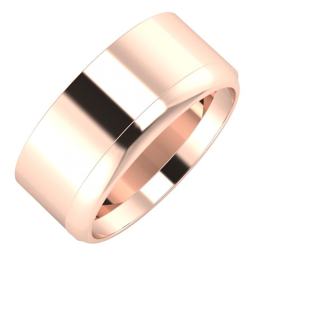 Adela - Ágosta 9mm 18 karátos rosé arany karikagyűrű