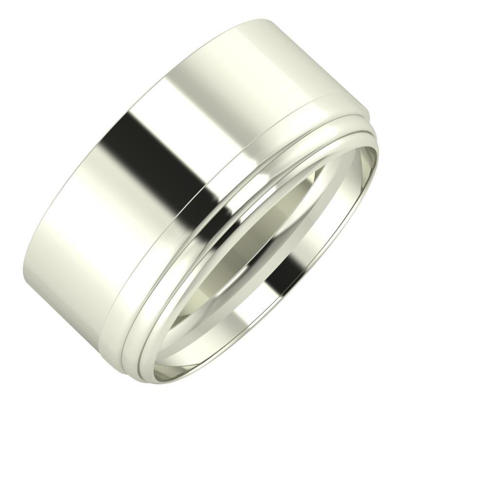 Adela - Aina 10mm 14 karátos fehér arany karikagyűrű