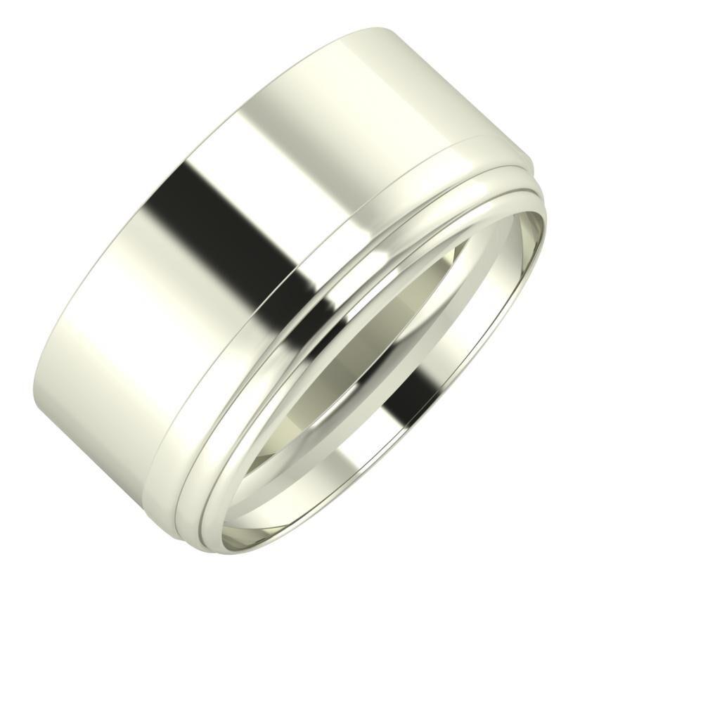 Adela - Aina 10mm 18 karátos fehér arany karikagyűrű