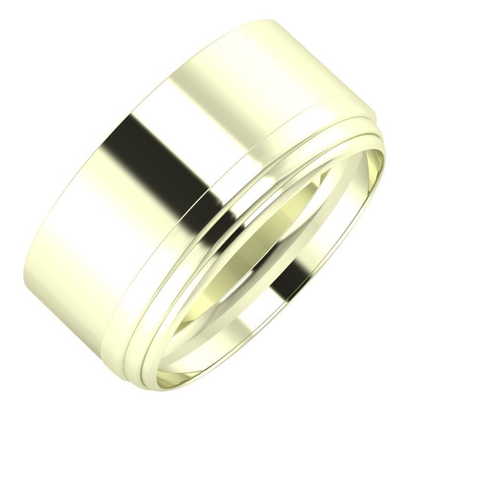 Adela - Aina 10mm 22 karátos fehér arany karikagyűrű
