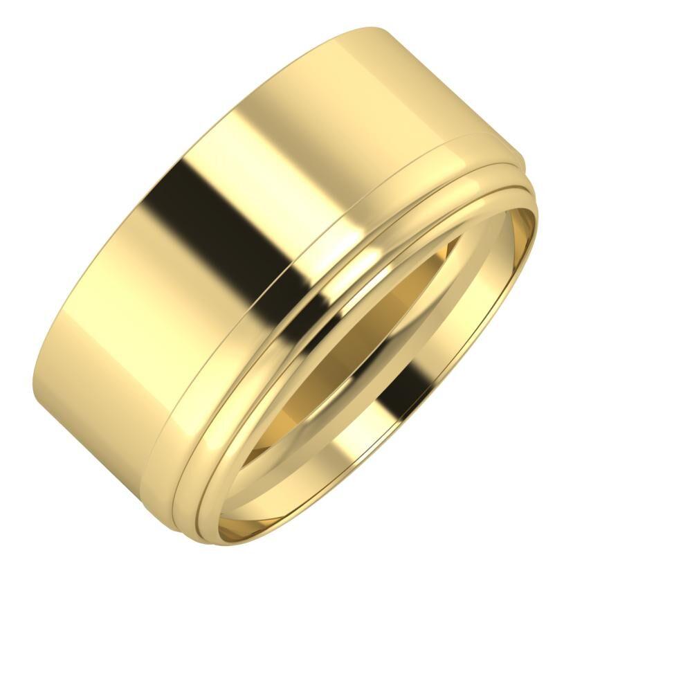 Adela - Aina 10mm 14 karátos sárga arany karikagyűrű