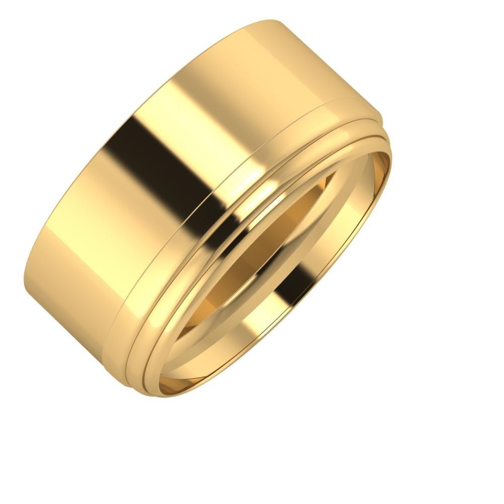 Adela - Aina 10mm 22 karátos sárga arany karikagyűrű