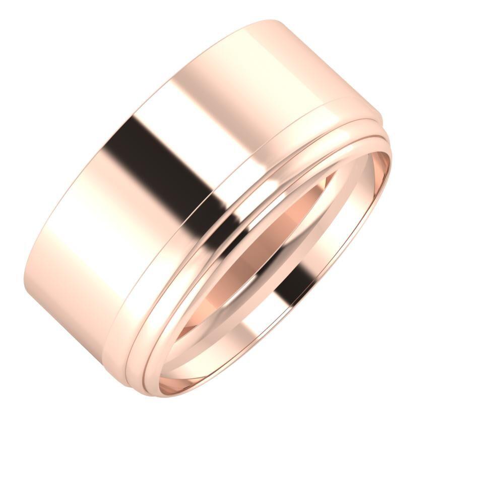 Adela - Aina 10mm 18 karátos rosé arany karikagyűrű