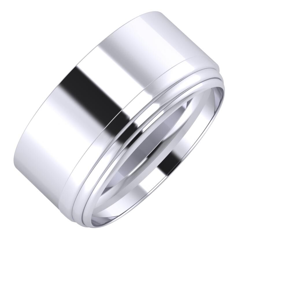 Adela - Aina 10mm platina karikagyűrű