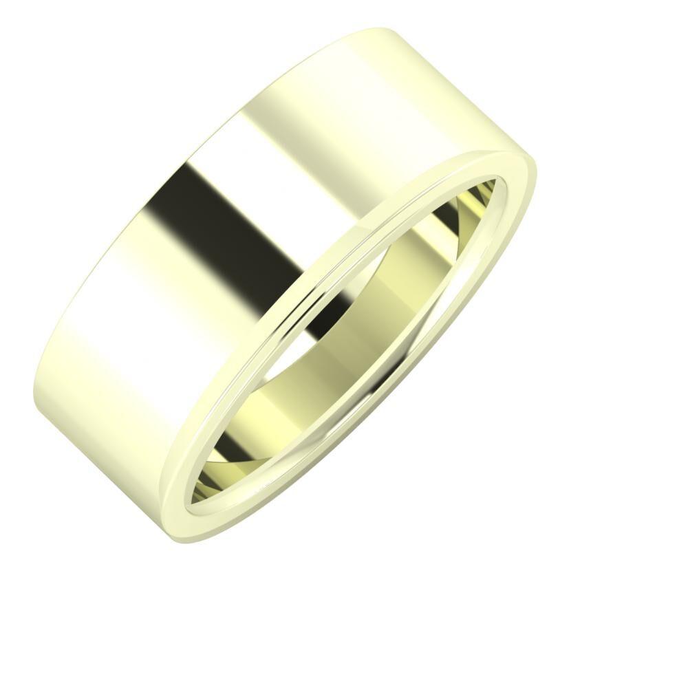Adela - Aisa 8mm 22 karátos fehér arany karikagyűrű
