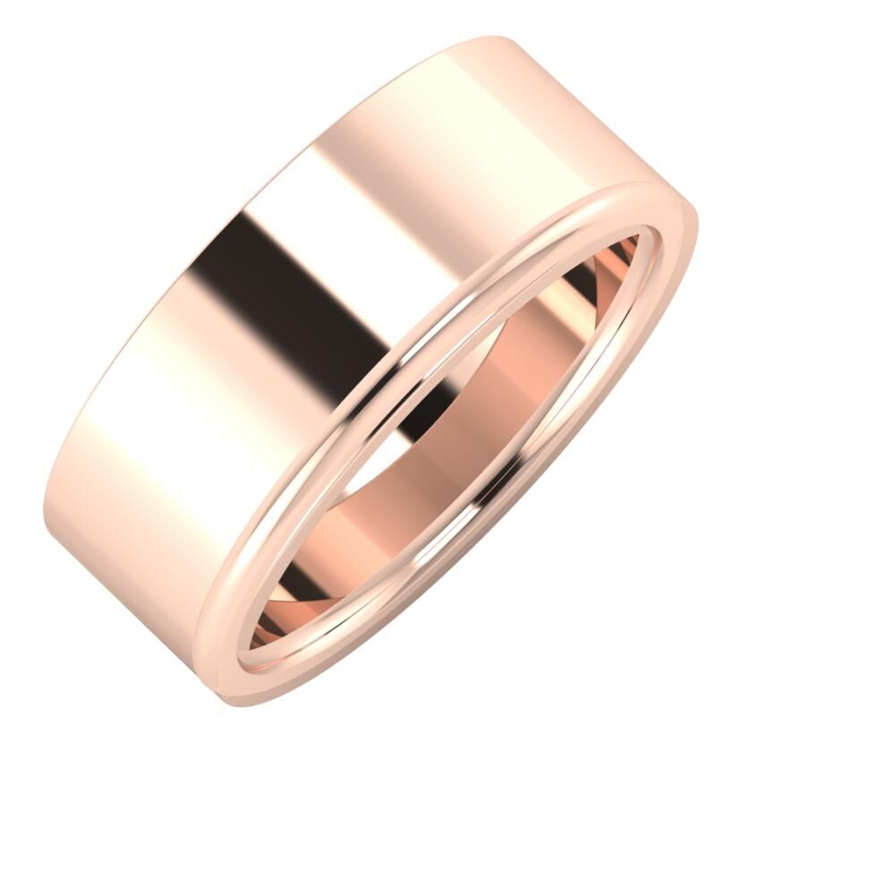 Adela - Aletta 8mm 14 karátos rosé arany karikagyűrű