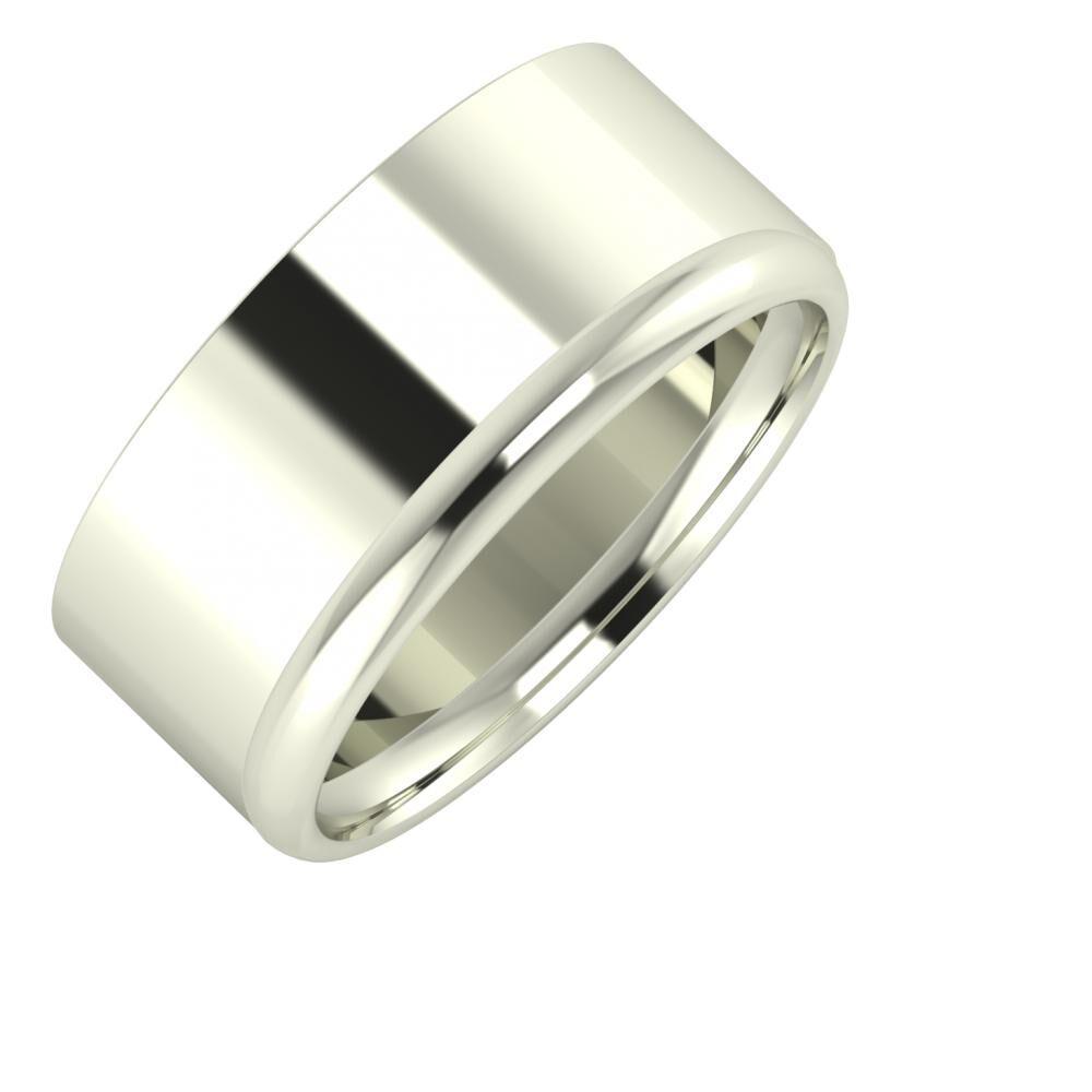 Adela - Alexa 9mm 14 karátos fehér arany karikagyűrű