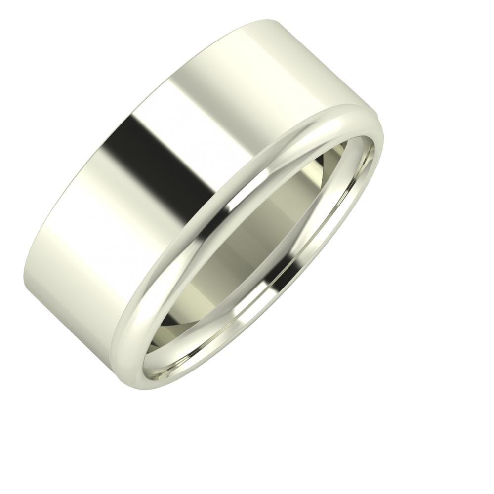 Adela - Alexa 9mm 18 karátos fehér arany karikagyűrű