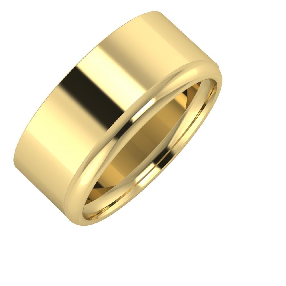 Adela - Alexa 9mm 14 karátos sárga arany karikagyűrű