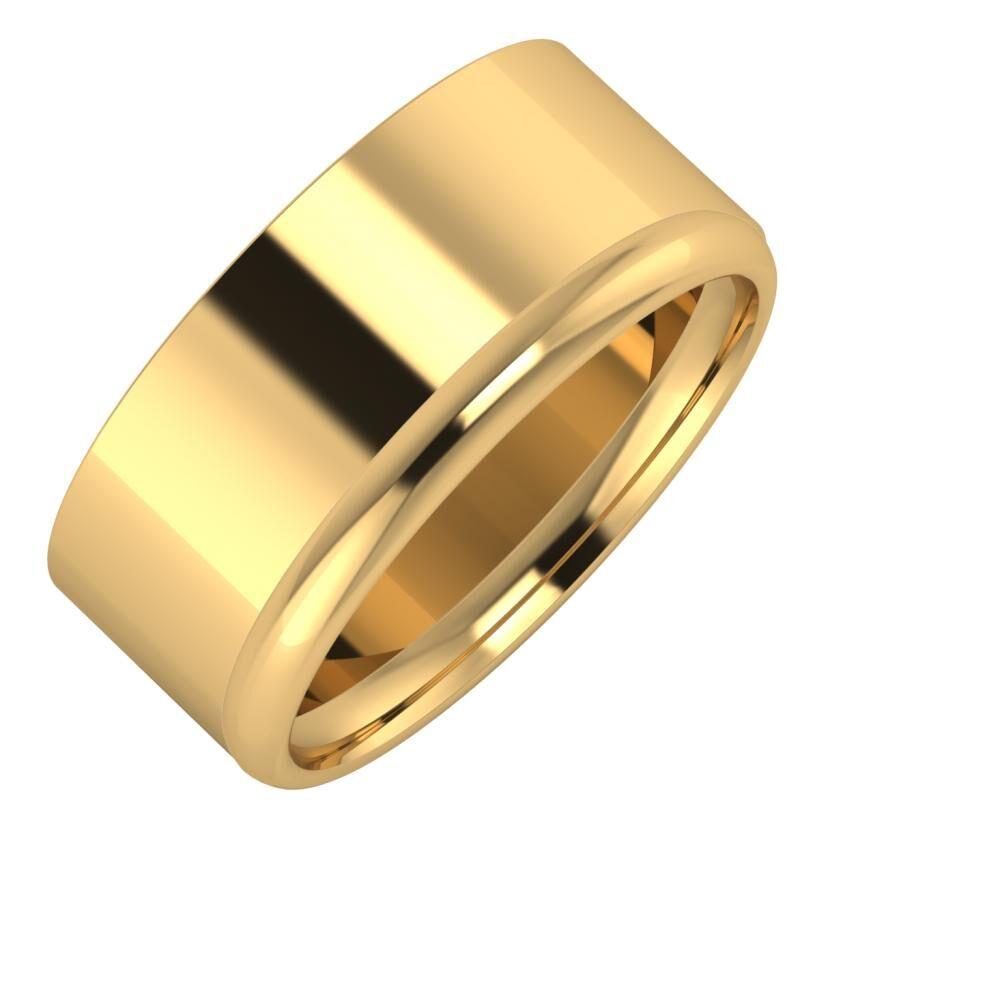 Adela - Alexa 9mm 18 karátos sárga arany karikagyűrű