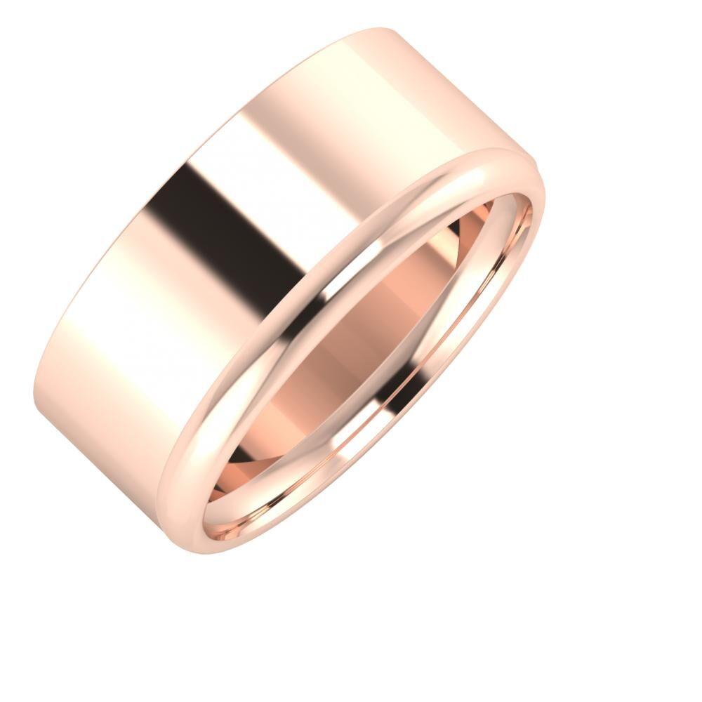 Adela - Alexa 9mm 18 karátos rosé arany karikagyűrű