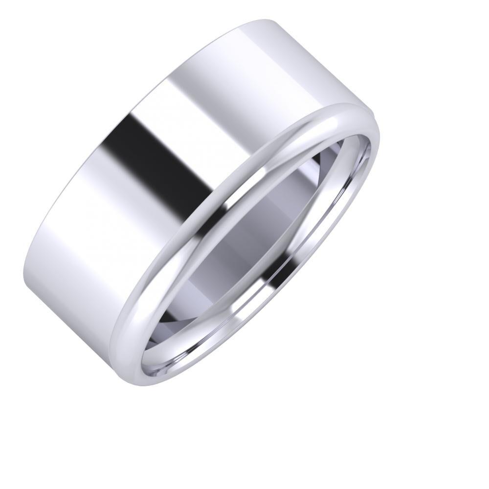 Adela - Alexa 9mm platina karikagyűrű