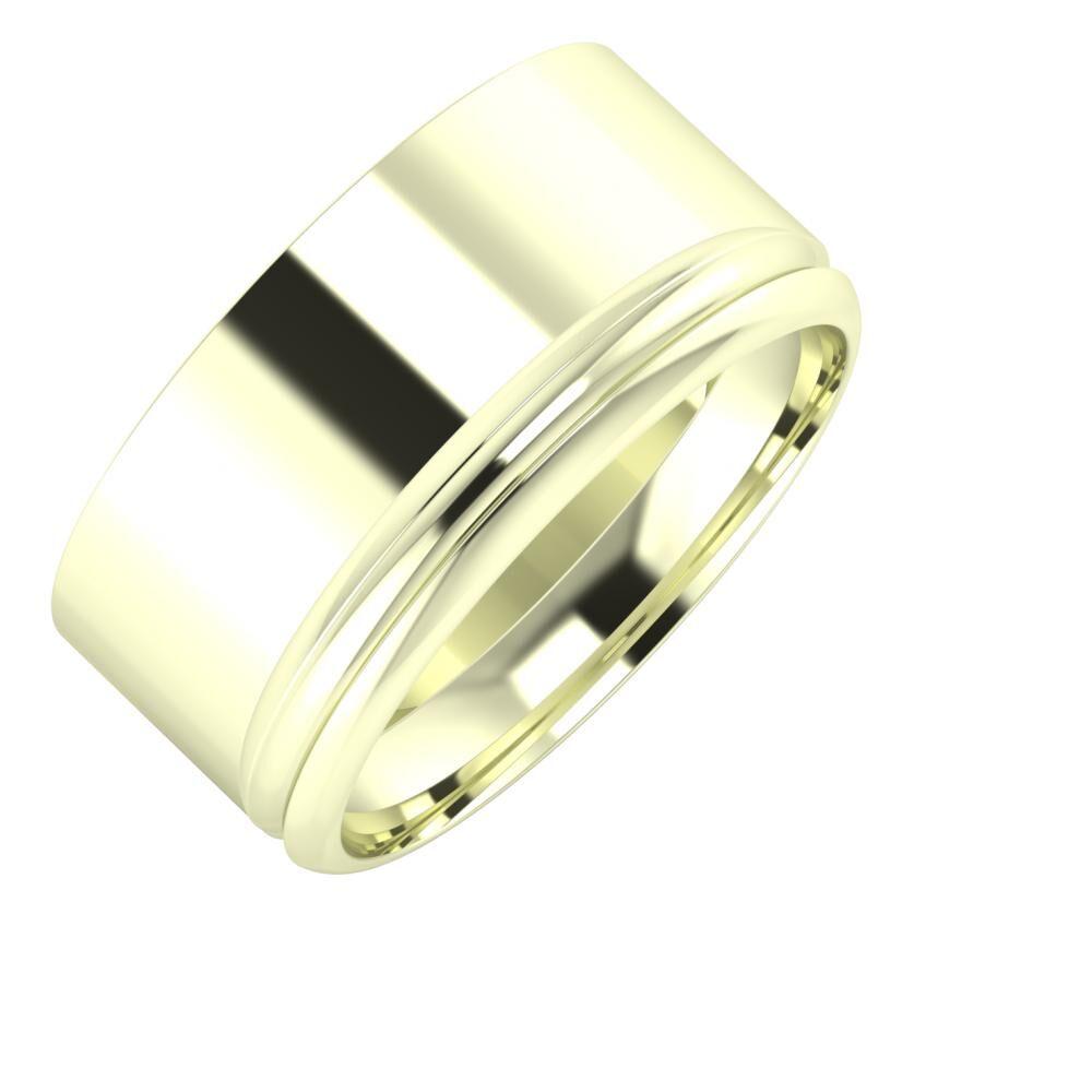 Adela - Alexandrin 10mm 22 karátos fehér arany karikagyűrű