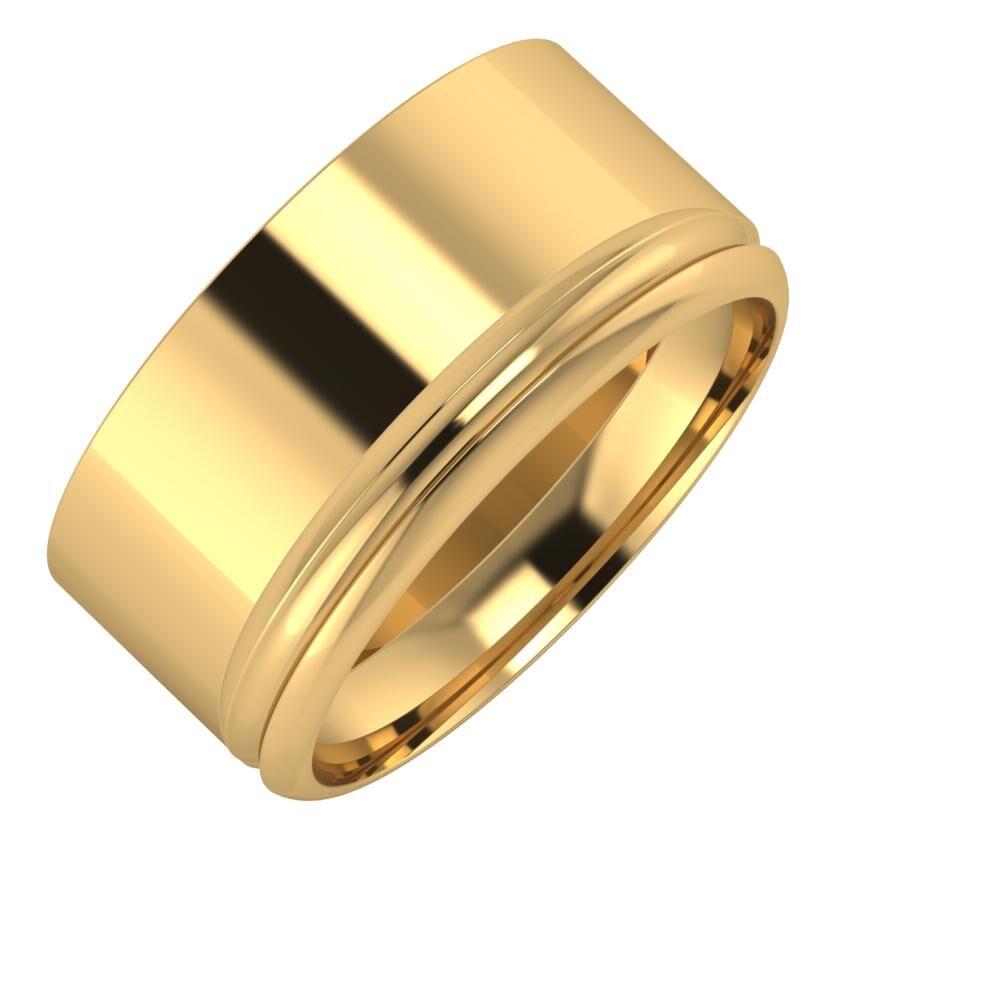 Adela - Alexandrin 10mm 18 karátos sárga arany karikagyűrű