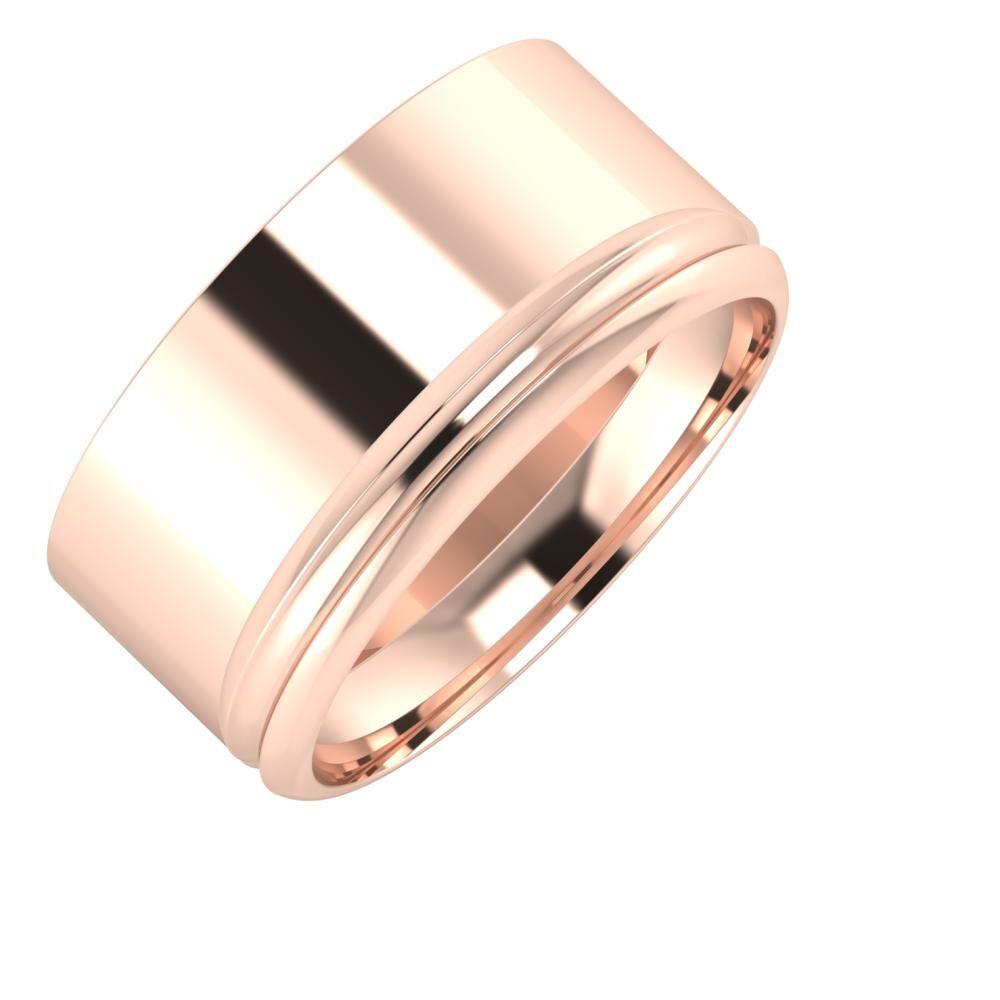 Adela - Alexandrin 10mm 18 karátos rosé arany karikagyűrű