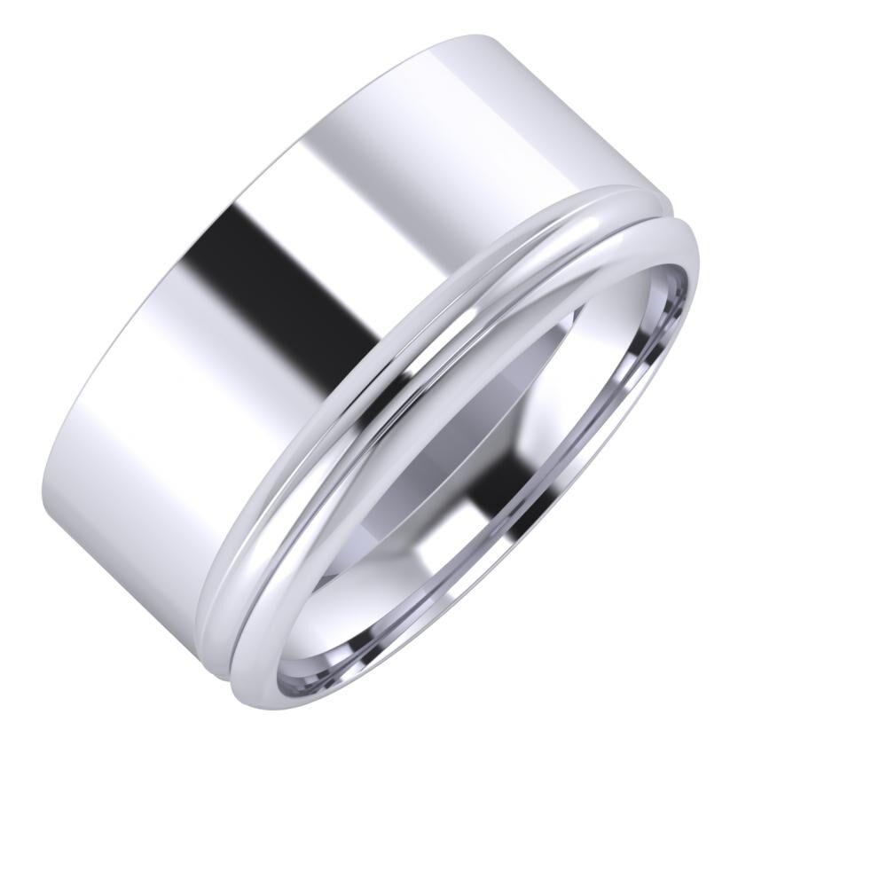 Adela - Alexandrin 10mm platina karikagyűrű