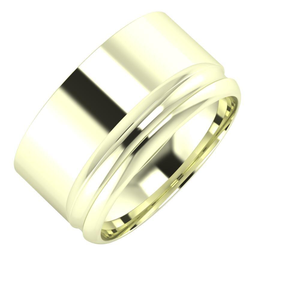 Adela - Alexandrin 11mm 22 karátos fehér arany karikagyűrű