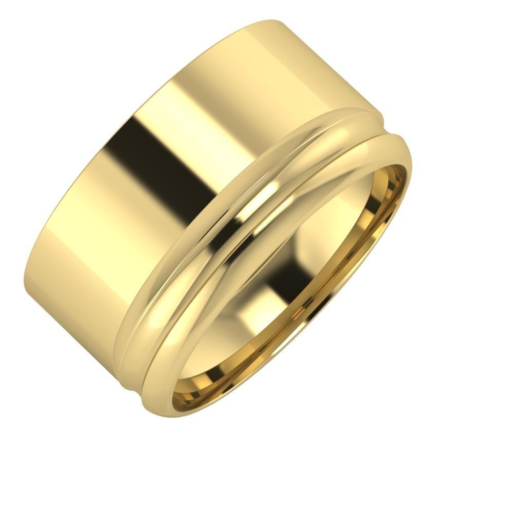 Adela - Alexandrin 11mm 14 karátos sárga arany karikagyűrű