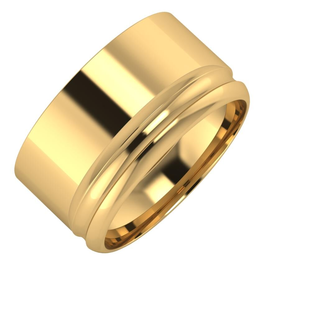 Adela - Alexandrin 11mm 22 karátos sárga arany karikagyűrű