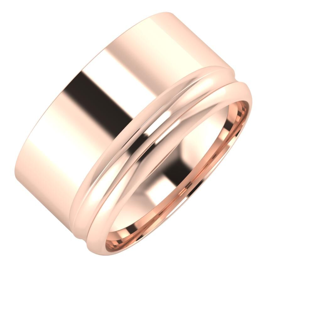 Adela - Alexandrin 11mm 18 karátos rosé arany karikagyűrű