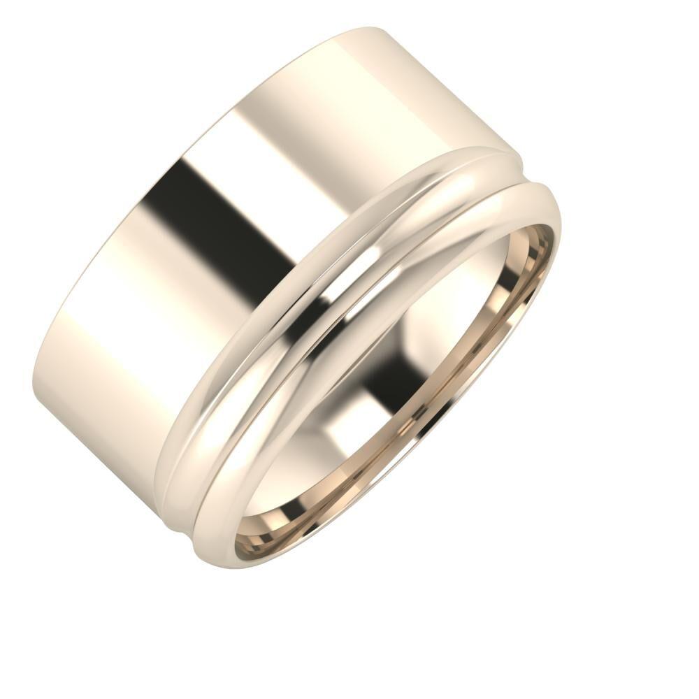 Adela - Alexandrin 11mm 22 karátos rosé arany karikagyűrű