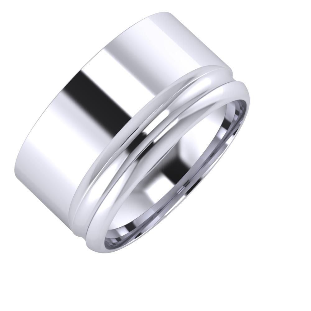 Adela - Alexandrin 11mm platina karikagyűrű