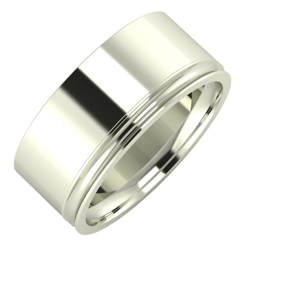 Adela - Alexandrina 9mm 18 karátos fehér arany karikagyűrű