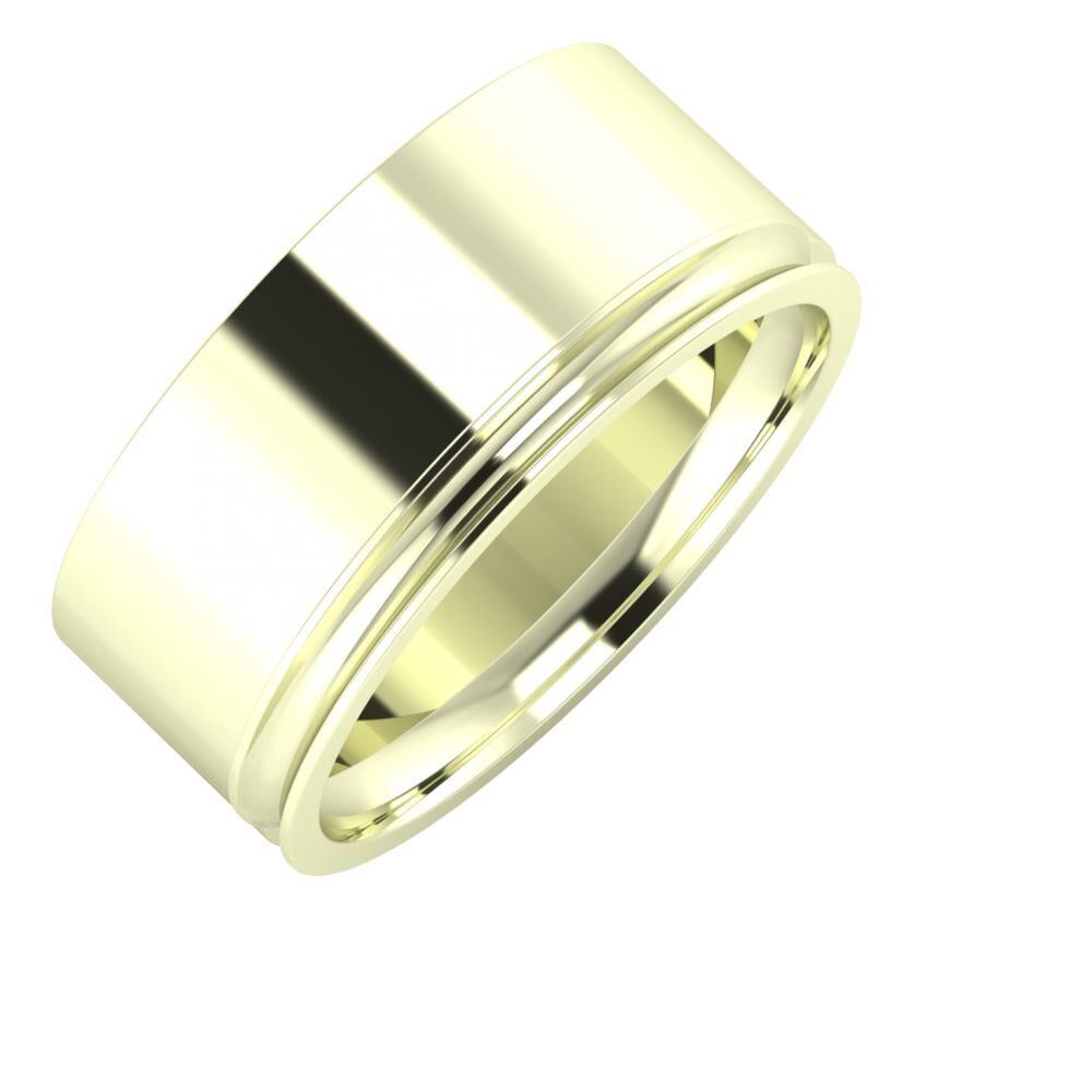 Adela - Alexandrina 9mm 22 karátos fehér arany karikagyűrű
