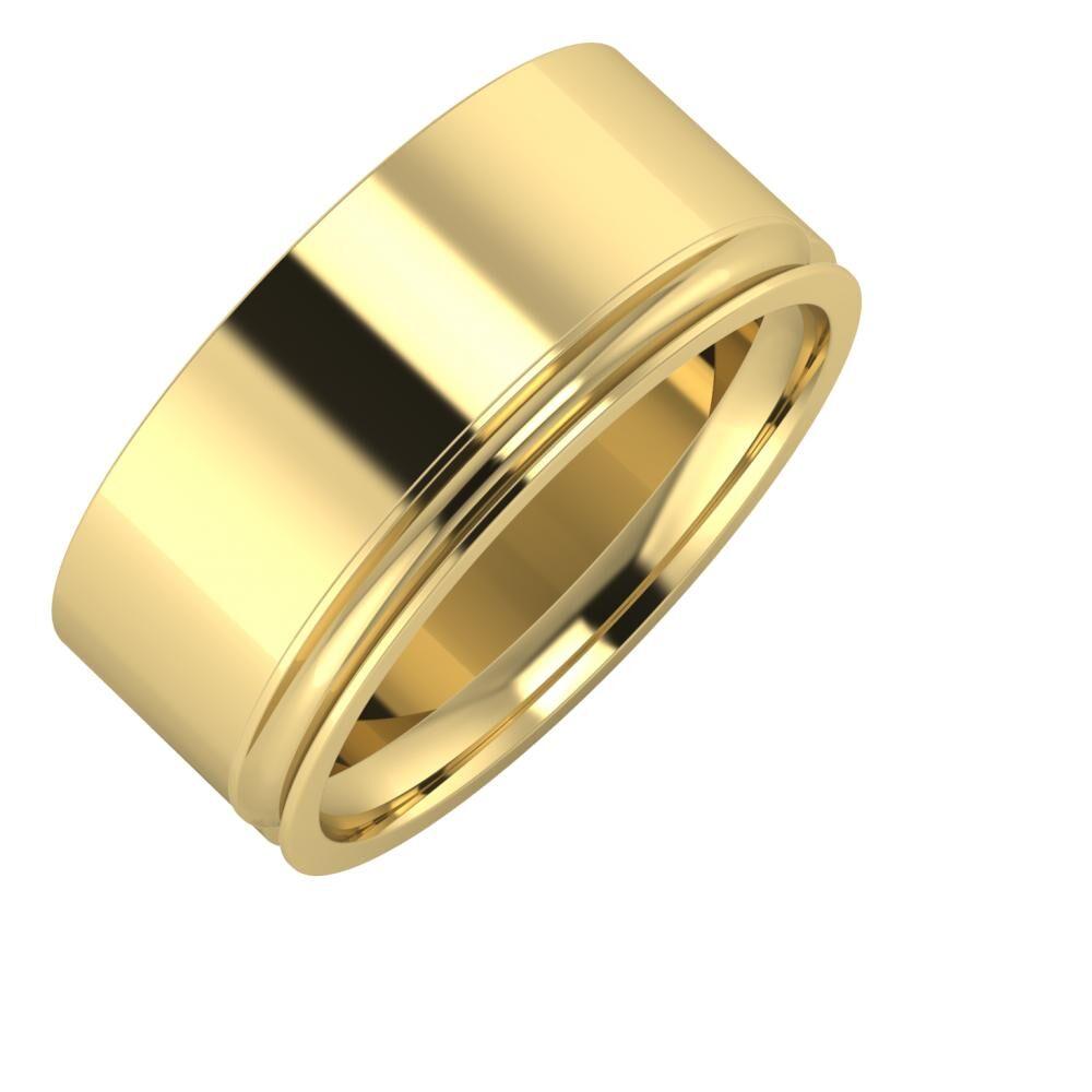 Adela - Alexandrina 9mm 14 karátos sárga arany karikagyűrű