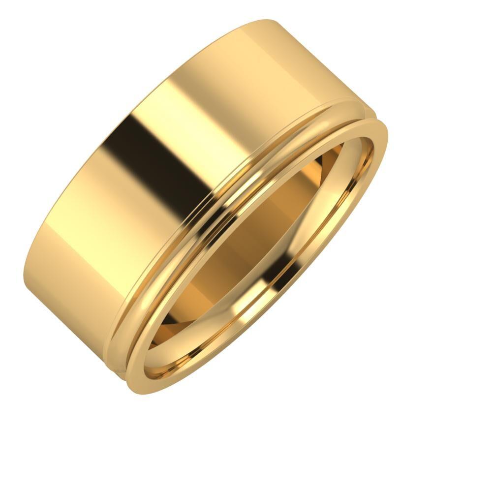 Adela - Alexandrina 9mm 18 karátos sárga arany karikagyűrű