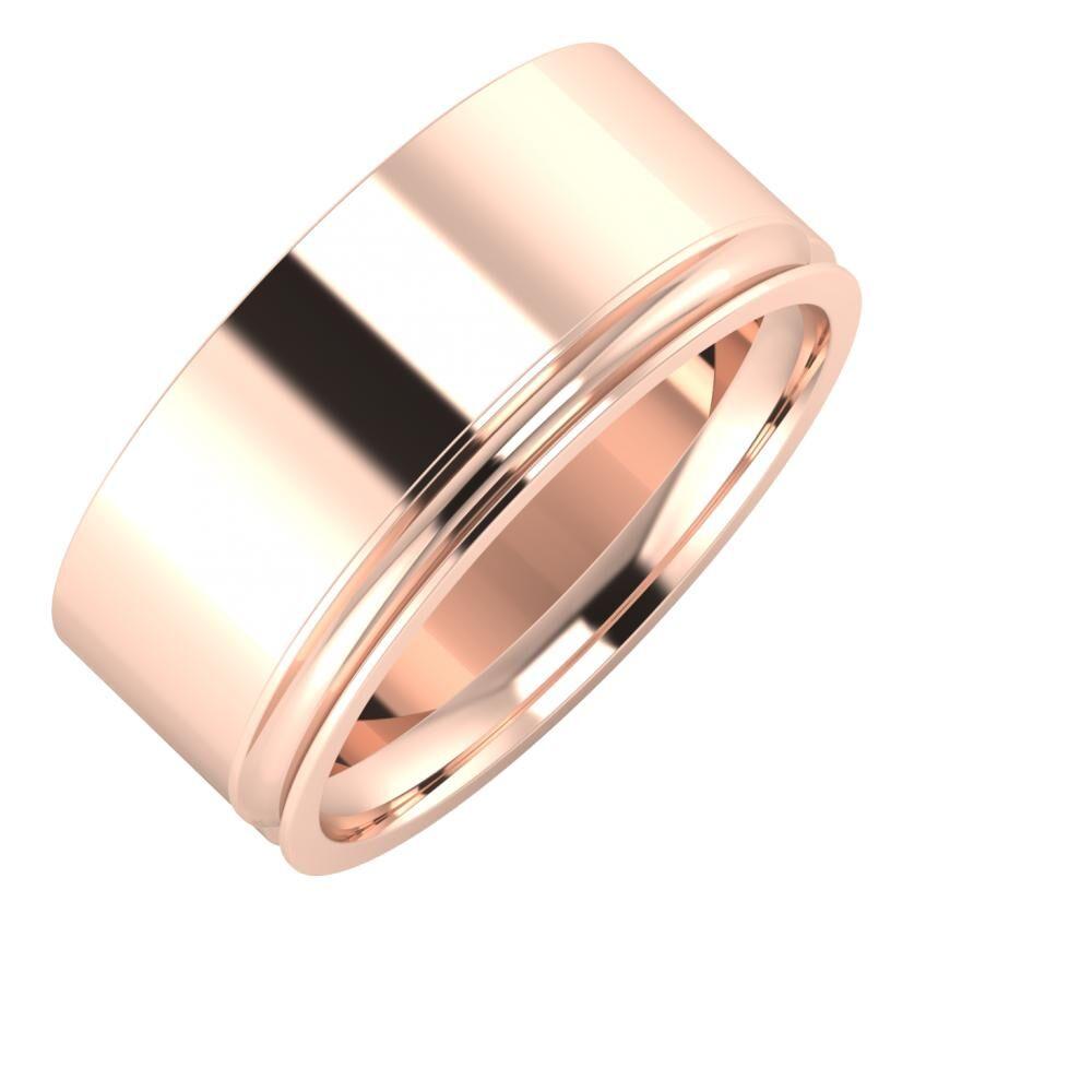 Adela - Alexandrina 9mm 14 karátos rosé arany karikagyűrű