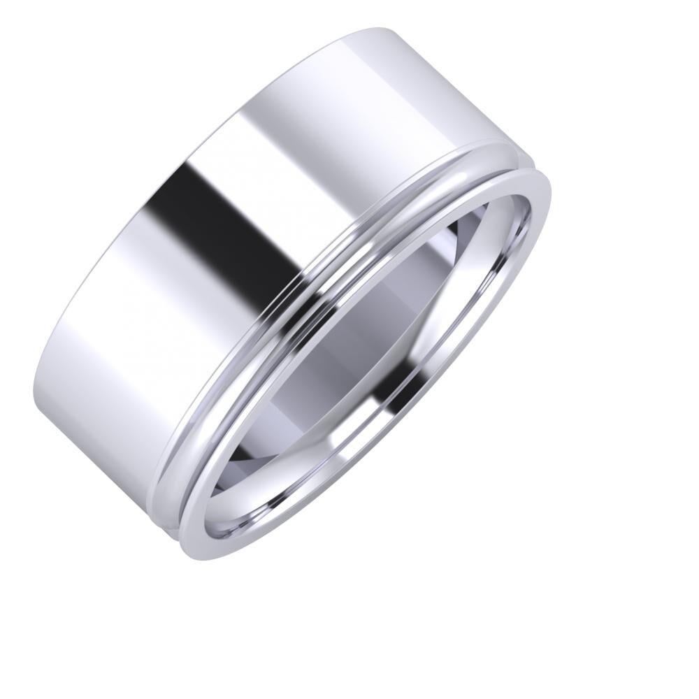 Adela - Alexandrina 9mm platina karikagyűrű