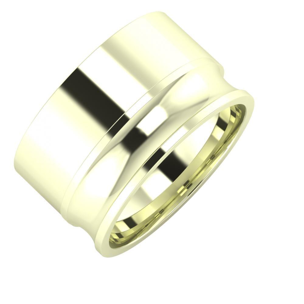 Adela - Alexandrina 12mm 22 karátos fehér arany karikagyűrű