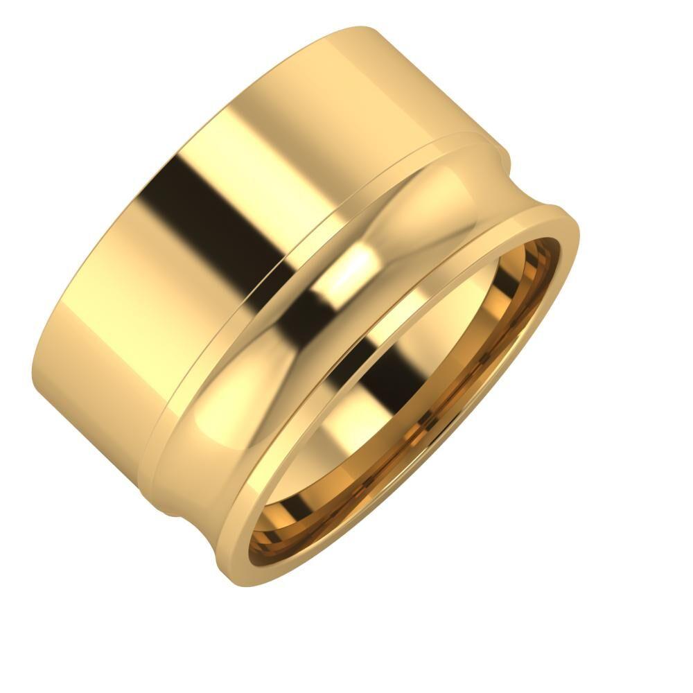 Adela - Alexandrina 12mm 18 karátos sárga arany karikagyűrű