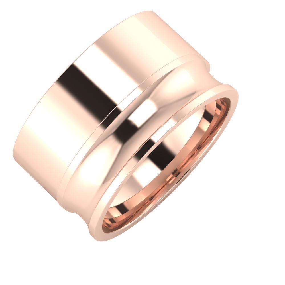 Adela - Alexandrina 12mm 14 karátos rosé arany karikagyűrű