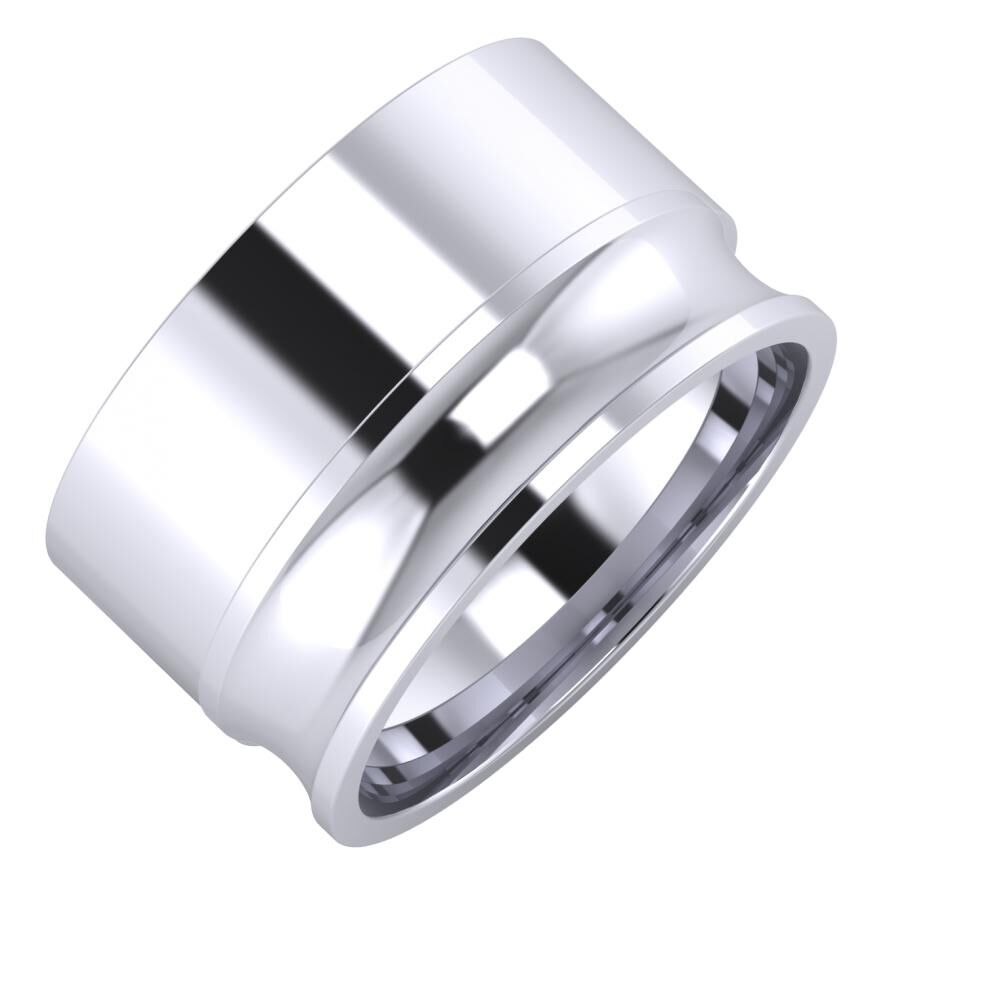 Adela - Alexandrina 12mm platina karikagyűrű