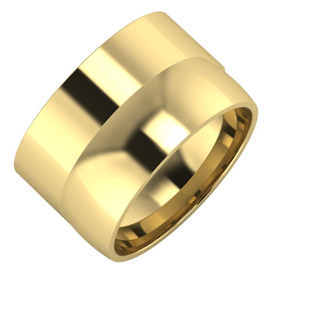 Adela - Alma 13mm 14 karátos sárga arany karikagyűrű