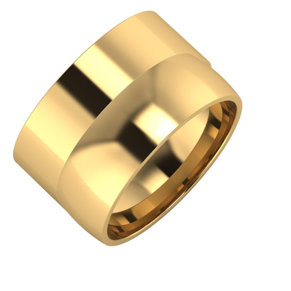 Adela - Alma 13mm 18 karátos sárga arany karikagyűrű