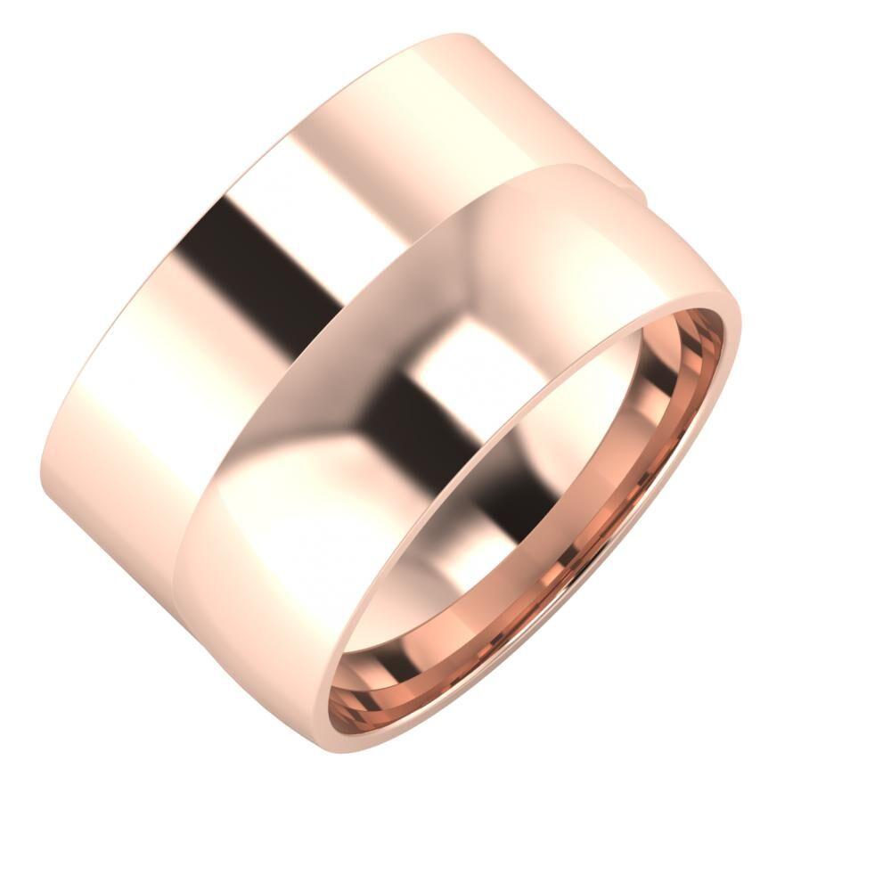 Adela - Alma 13mm 14 karátos rosé arany karikagyűrű