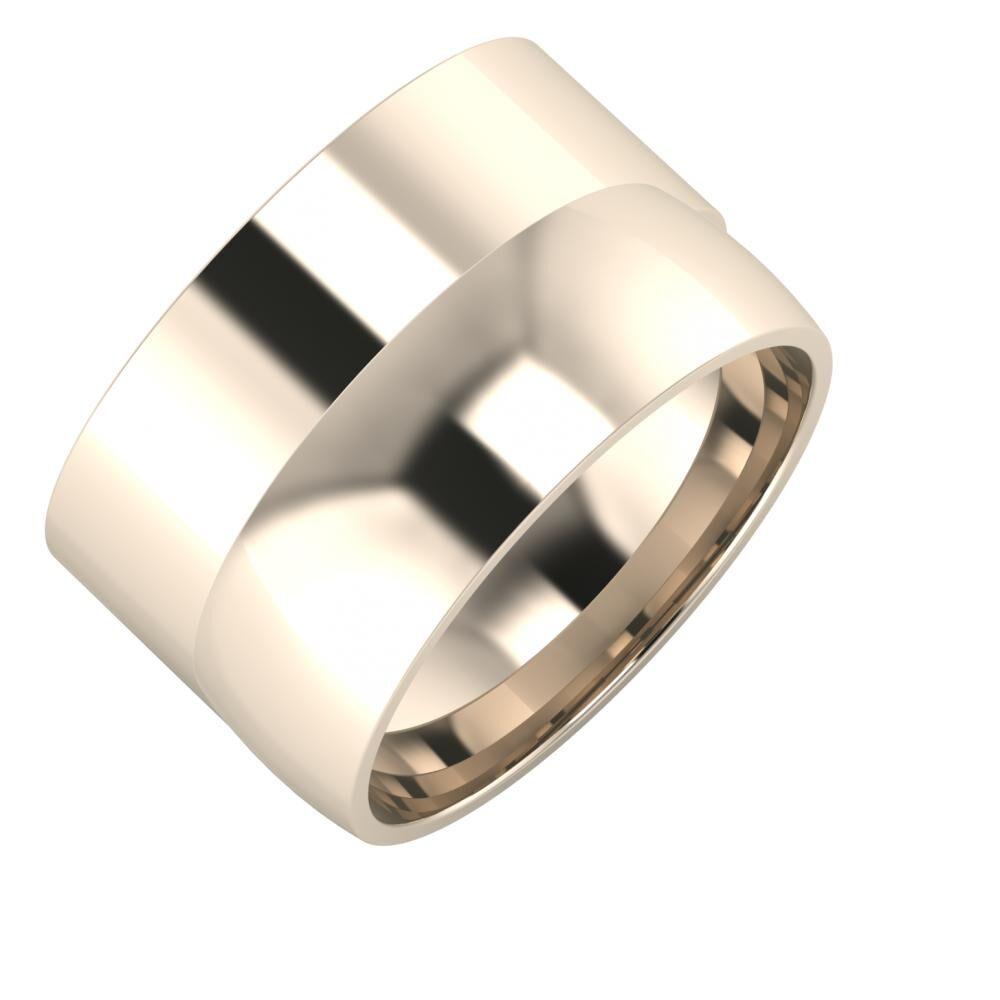 Adela - Alma 13mm 22 karátos rosé arany karikagyűrű