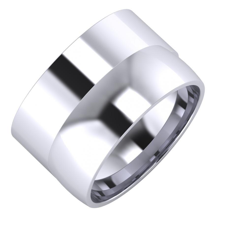 Adela - Alma 13mm platina karikagyűrű