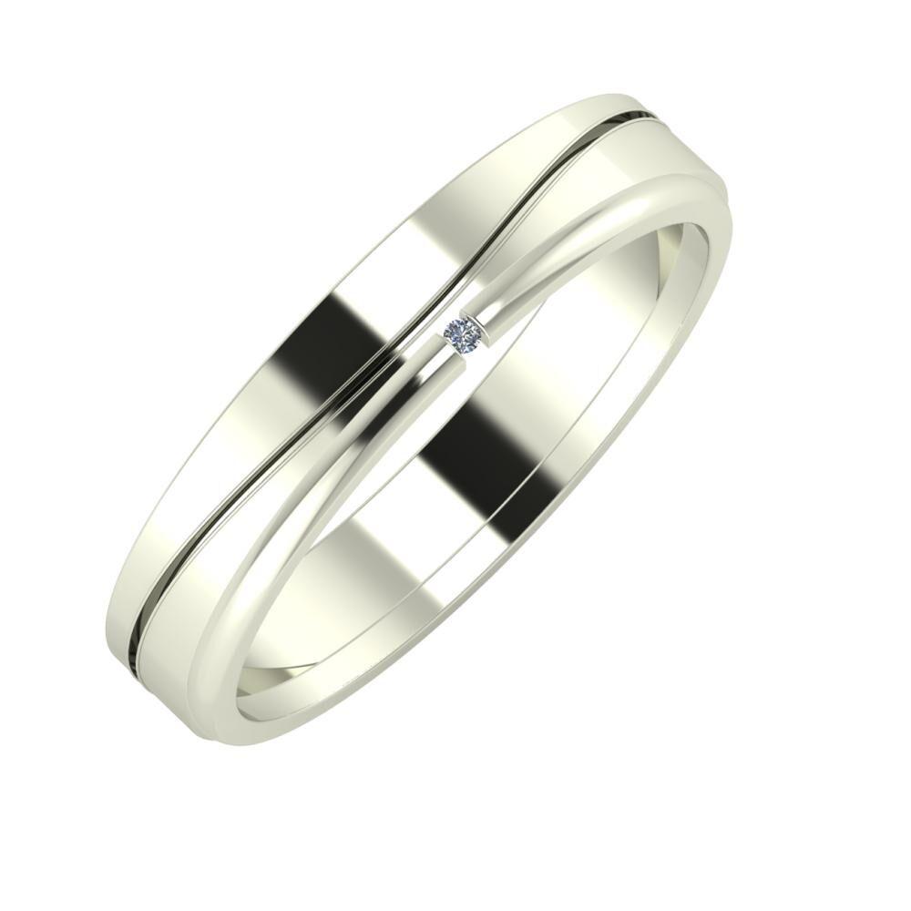 Adelinda - Adalind 4mm 14 karátos fehér arany karikagyűrű